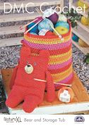 DMC Bear Toy & Storage Tub Natura Crochet Pattern  Super Chunky