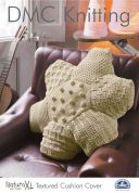 DMC Textured Cushion Cover Natura Knitting Pattern  Super Chunky