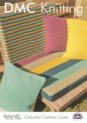 DMC Colourful Cushion Cover Natura Knitting Pattern  Super Chunky