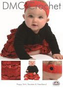 DMC Baby Poppy Skirt, Bootees & Headband Petra Crochet Pattern