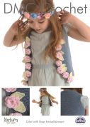 DMC Girls Gilet with Rose Embellishment Natura Crochet Pattern  4 Ply