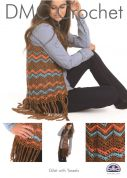 DMC Ladies Gilet with Tassels Petra Crochet Pattern