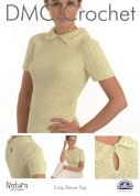 DMC Ladies Crop Sleeve Top Natura Crochet Pattern  4 Ply