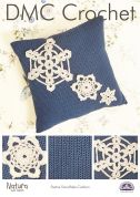 DMC Festive Christmas Snowflake Cushion Natura Crochet Pattern  4 Ply