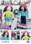 DMC Skater Boy and Girl Toys Amigurumi Natura Crochet Pattern  Aran
