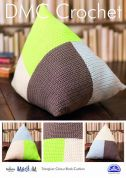 DMC Home Triangular Colour Block Cushion Natura Crochet Pattern  Aran