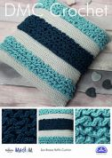 DMC Home Sea Breeze Ruffle Cushion Natura Crochet Pattern  Aran