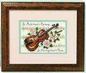 Jiffy Counted Cross Stitch Kit Music is Harmony