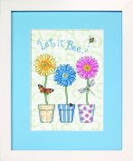 Jiffy Counted Cross Stitch Kit Let it Bee