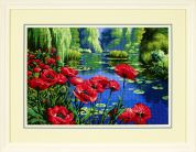 Jiffy Needlepoint Kit Lakeside Poppies