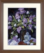 Jiffy Needlepoint Kit Tulips & Lilacs