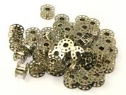 Metal Bobbins for Sewing Machines  Silver