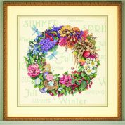 Dimensions Counted Cross Stitch Kit Wreath of all Seasons
