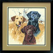 Dimensions Counted Cross Stitch Kit Great Hunting Dogs