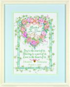 Dimensions Counted Cross Stitch Kit United in Love Wedding Record