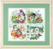 Dimensions Counted Cross Stitch Kit Four Seasons Kittens
