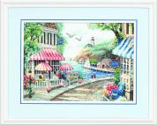 Dimensions Counted Cross Stitch Kit Cafe by the Sea