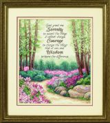 Dimensions Counted Cross Stitch Kit Serenity, Courage, & Wisdom
