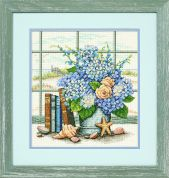 Dimensions Counted Cross Stitch Kit Hydrangeas & Shells