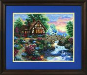 Dimensions Counted Cross Stitch Kit Twilight Bridge