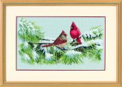 Dimensions Counted Cross Stitch Kit Winter Cardinals