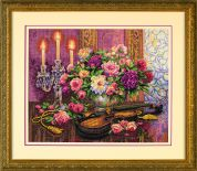 Dimensions Counted Cross Stitch Kit Romantic Floral
