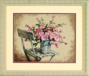 Dimensions Counted Cross Stitch Kit Roses On White Chair