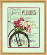 Dimensions Counted Cross Stitch Kit Parisian Bicycle