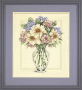 Dimensions Counted Cross Stitch Kit Flowers in Tall Vase