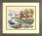 Dimensions Counted Cross Stitch Kit Peaceful Lake House