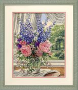 Dimensions Counted Cross Stitch Kit Peonies & Delphiniums