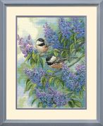 Dimensions Counted Cross Stitch Kit Chickadees & Lilacs
