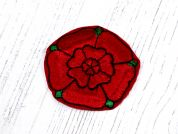 County Lancashire Rose Motifs  Red