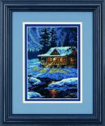 Dimensions Petite Counted Cross Stitch Kit Moonlit Cabin