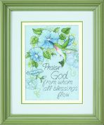 Dimensions Counted Cross Stitch Kit Hummingbird & Morning Glories