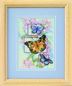 Dimensions Petite Counted Cross Stitch Kit Blossoms & Butterflies