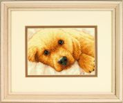 Dimensions Petite Counted Cross Stitch Kit Golden Puppy