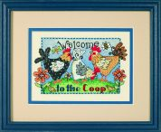 Dimensions Stamped Cross Stitch Kit Welcome To The Coop