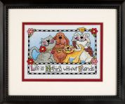 Dimensions Stamped Cross Stitch Kit Life is Nothing Without Friends