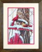 Dimensions Counted Cross Stitch Kit Cardinals on Sled