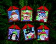 Dimensions Counted Cross Stitch Kit Ornament Set Christmas Pals