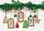 Dimensions Counted Cross Stitch Kit Ornaments Joy Tag