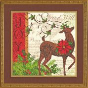 Dimensions Collection Cross Stitch Kit Winter Reindeer
