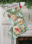 Dimensions Counted Cross Stitch Kit Stocking Enchanted Ornament