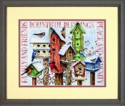 Dimensions Counted Cross Stitch Kit Winter Housing