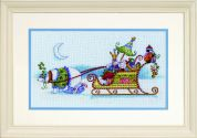 Dimensions Counted Cross Stitch Kit Snow Bear & Sleigh