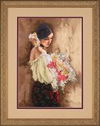Dimensions Cross Stitch Kit Woman with Bouquet