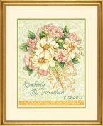 Dimensions Counted Cross Stitch Kit Wedding Record Bouquet