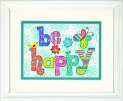 Dimensions Stamped Cross Stitch Kit Be Happy