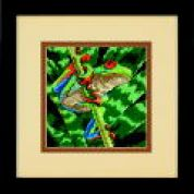 Dimensions Needlepoint Kit Red Eyed Leaf Frog